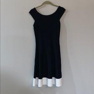 Eliza J Off The Shoulder Black Fit and Flare Dress